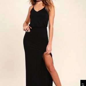 Black Maxi with slit